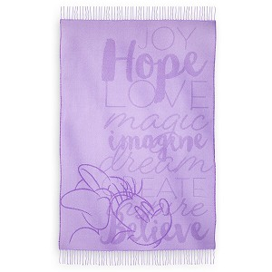 Disney Throw Blanket - Minnie Mouse Quotes - Purple