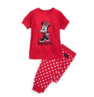 Disney Pajama Set for Girls - Minnie Mouse Velour - Super Star