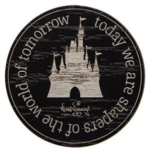 Disney Magnet - Castle - Today we are Shapers of the World of Tomorrow