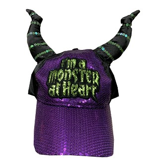 Disney Hat - Baseball Cap - Maleficent Horns - I'm a Monster at Heart