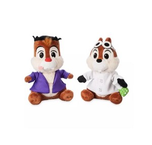 Disney Halloween Plush Set -  Chip 'n Dale - Mad Doctor and Monster