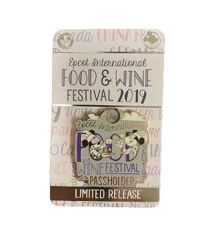 Disney Food & Wine Festival Pin - 2019 Mickey & Minnie - Passholder