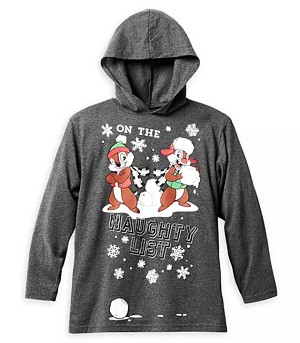 Disney Hoodie for Boys - Chip 'n Dale Pullover - Naughty List