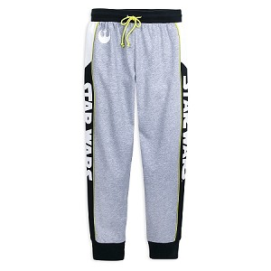Disney Sweatpants for Women - Star Wars Logo - Black and Grey