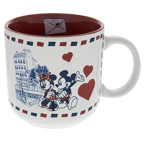 Disney Coffee Mug - World Showcase Paris - Mickey and Minnie - Hearts
