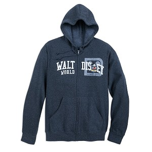 Disney Zip Hoodie for Adults - Mickey Collegiate - Walt Disney World
