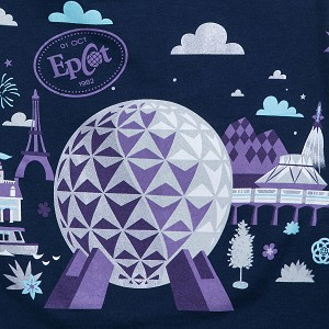 Disney Zip Hoodie for Adults - Epcot Spaceship Earth - Gray