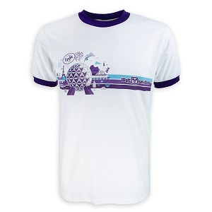 Disney Shirt for Adults - Epcot Ringer Tee - Walt Disney World - White