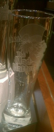 Disney Pilsner Glass - Alice in Wonderland - Mad Hatter by Arribas