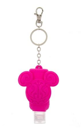 Disney Keychain - Hand Sanitizer - Mickey Icon - Pink