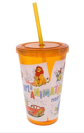 Disney Tumbler with Straw - Art Of Animation
