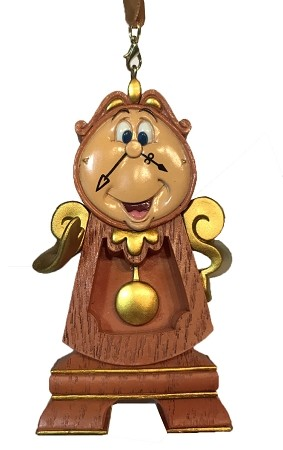 disney christmas ornament cogsworth beauty and the beast - Disney Beauty And The Beast Christmas Decorations