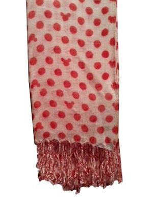 Disney Scarf - Mickey Mouse Polka Dots Icons - Red & White