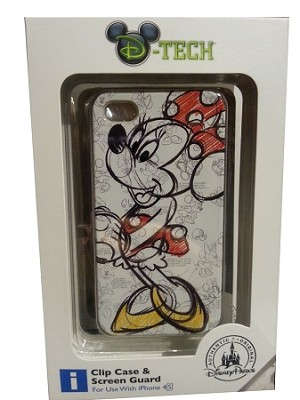 Disney iPhone 4 Case - Minnie Mouse Sketch Art