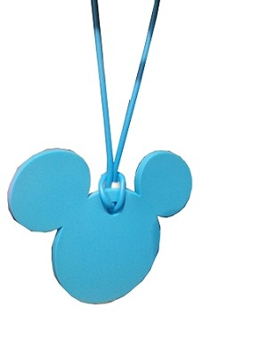 Disney Luggage Bag Tag - Mickey Mouse Icon - Blue