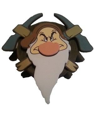 Disney Antenna Topper - Grumpy Crossed Pick Axes