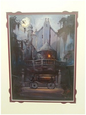 Disney Art Print - Haunted Mansion 4 AM by George Scribner