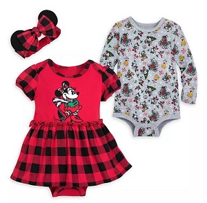 Disney Bodysuit Set for Baby Girl - Holiday Mickey Mouse and Friends