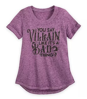 Disney Shirt for Women - You Say Villain Like it's a Bad thing - Purple