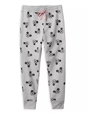 Disney Lounge Pants for Women - Mickey Mouse All Over - Gray