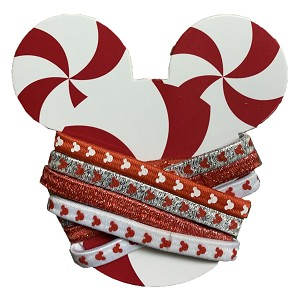 Disney Hair Ties - Holiday Mickey Mouse - Peppermint