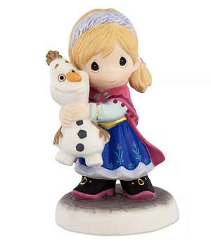Disney Precious Moments Figure - Anna and Olaf - You Melt My Heart
