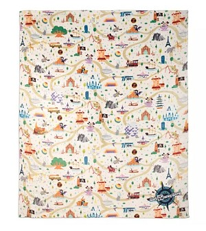 Disney Throw Blanket - Mickey Mouse and Friends Park Life