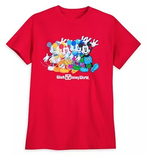 Disney T-Shirt for Women - Fantastic 5 - Mickey Mouse Multicolor - Red